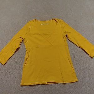 Tee Shop yellow deep plunge v neckline.